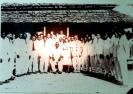 Mestre Irineu e grupo na Igreja do Alto Santo - S/ data